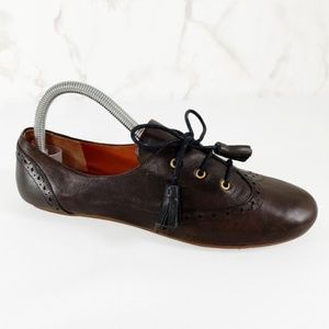 Marc by Marc Jacobs Leather Wingtip Tassel Shoes
